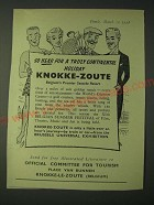 1958 Knokke-Zoute Belgium Ad - So near for a truly continental holiday