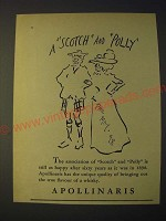 1958 Apollinaris Water with art by Phil May Ad - A Scotch and Polly