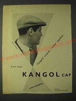 1958 Kangol Cap Ad - Kangosil treated - water repellent