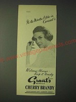 1958 Grant's Morella Cherry Brandy Ad - It's the Morella I like in Grant's