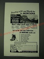 1958 Montana Tourism Ad - Everything to do - and beauty, too in Montana