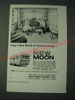 1958 New Moon Mobile Home Ad - Enjoy a new world of carefree living