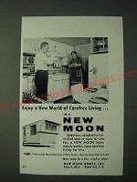 1958 New Moon Mobile Home Ad - a new world of carefree living