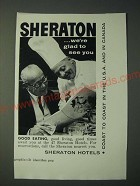 1958 Sheraton Hotels Ad - Sheraton …we're glad to see you