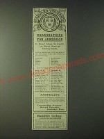 1900 Harvard University and Radcliffe College Ad - Examinations for Admission
