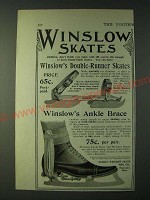 1900 Winslow Double-Runner Skates and Ankle Brace Ad