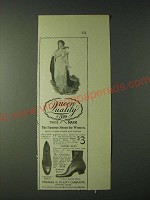 1900 Thomas G. Plant Queen Quality Shoes Ad - Mannish Model - Famous Shoes