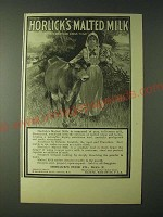 1900 Horlick's Malted Milk Ad - Horick's Malted Milk That's Meat and drink to me