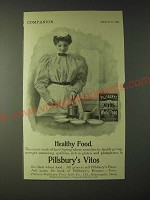 1900 Pillsbury's Vitos Wheat Food Ad - Healthy Food