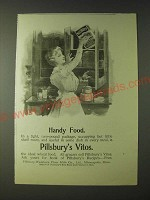 1900 Pillsbury's Vitos Wheat Food Ad - Handy Food