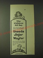 1900 National Biscuit Company Uneeda Jinjer Wayfer Ad - The children all say