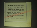 1900 Waltham Watches Ad - Waltham Watches