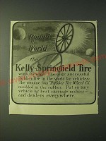 1900 Kelly-Springfield Tire Ad - round the world