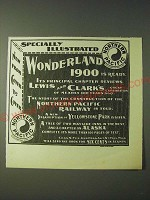 1900 Northern Pacific Railway Ad - Specially Illustrated Wonderland 1900