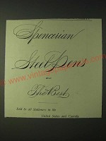 1900 Spencerian Steel Pens Ad - Spencerian Steel Pens are the Best