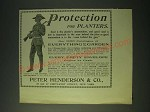 1900 Peter Henderson & Co. Ad - Protection for Planters