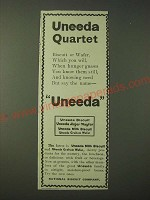 1900 National Biscuit Company Nabisco Ad - Uneeda Quartet