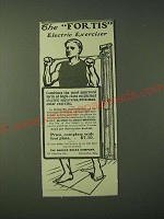 1900 The Badger Brass Company Fortis Electric Exerciser Ad