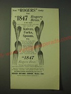 1900 1847 Rogers Bros. silverware Ad - Not Rogers only but 1847 Roger Bros.