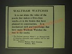 1900 Waltham Watches Ad - The Value of the Jewels