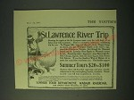 1900 Wabash Railroad Summer Tour Department Ad - St. Lawrence River Trip