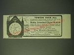 1900 Elgin Watches Ad - Towers over all