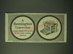 1900 Remington Typewriter Ad - Renders double the Service