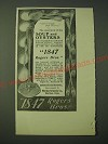 1900 1847 Rogers Bros. Berkshire Silver Ad - The enjoyment of the soup