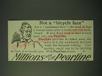 1900 Pearline Detergent Ad - Not a bicycle face