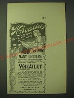 1900 Franklin Mills Wheatlet Ad - Wheatlet delicious healthy nutritious