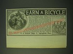 1900 W.G. Baker Baker's Teas Ad - Earn Bicycle