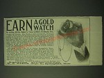 1900 W.G. Baker Baker's Teas, Coffees, Extracts Ad - Earn a Gold Watch