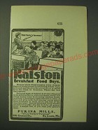 1900 Purina Mills Ralston Breakfast Food Ad - School Days