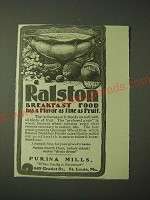 1900 Purina Mills Ralston Breakfast Food Ad - Flavor As Fine as Fruit