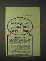 1900 Libby's Food Ad - Libby's Luncheon Specialties