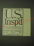 1900 Swift  and Company Ad - U.S. Insp'd