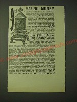 1900 Sears, Roebuck & Co. Big Heating Stove Ad - Send no money