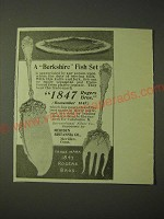 1900 1847 Rogers Bros. Berkshire Fish Set Ad