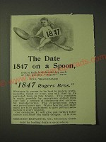 1900 1847 Rogers Bros. Silver Ad - The date 1847 on a spoon