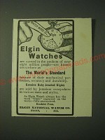1900 Elgin Watches Ad - carried in the pockets of over eight Million People