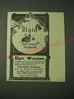 1900 Elgin Watches Ad - Elgin The World's Standard