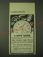 1900 Elgin Watches Ad - A Safe Guide