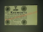 1900 Krementz One-Piece Collar Button Ad