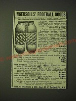 1900 Ingersolls' Football Goods - Varsity Football Pants Ad