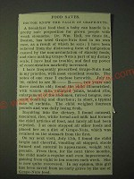 1900 Post Grape-Nuts Cereal Ad - Food saves. Doctor knew the value of Grape-Nuts