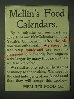 1900 Mellin's Food Ad - Calendars