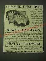 1900 Minute Gelatine and Minute Tapioca Ad - Summer desserts