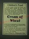 1900 Cream of Wheat Cereal Ad - Children's Food