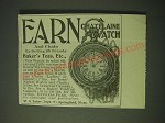 1900 W.G. Baker & Co.'s Baker's Tea Ad - Earn Chatelaine Watch