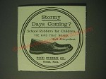 1900 Hood Rubber Co. Shoes Ad - Stormy days coming?